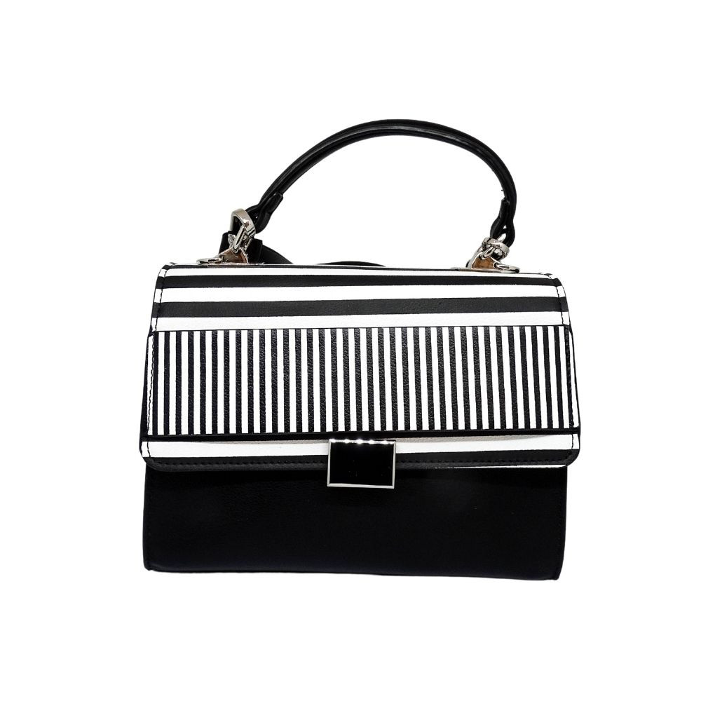 Mini Bag Bianca E Nera