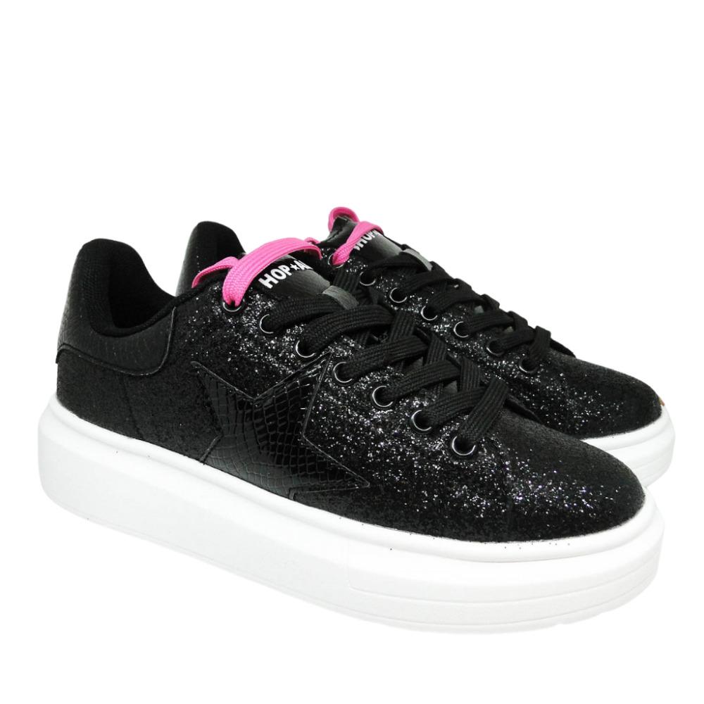 Sneakers Nere  Glitter
