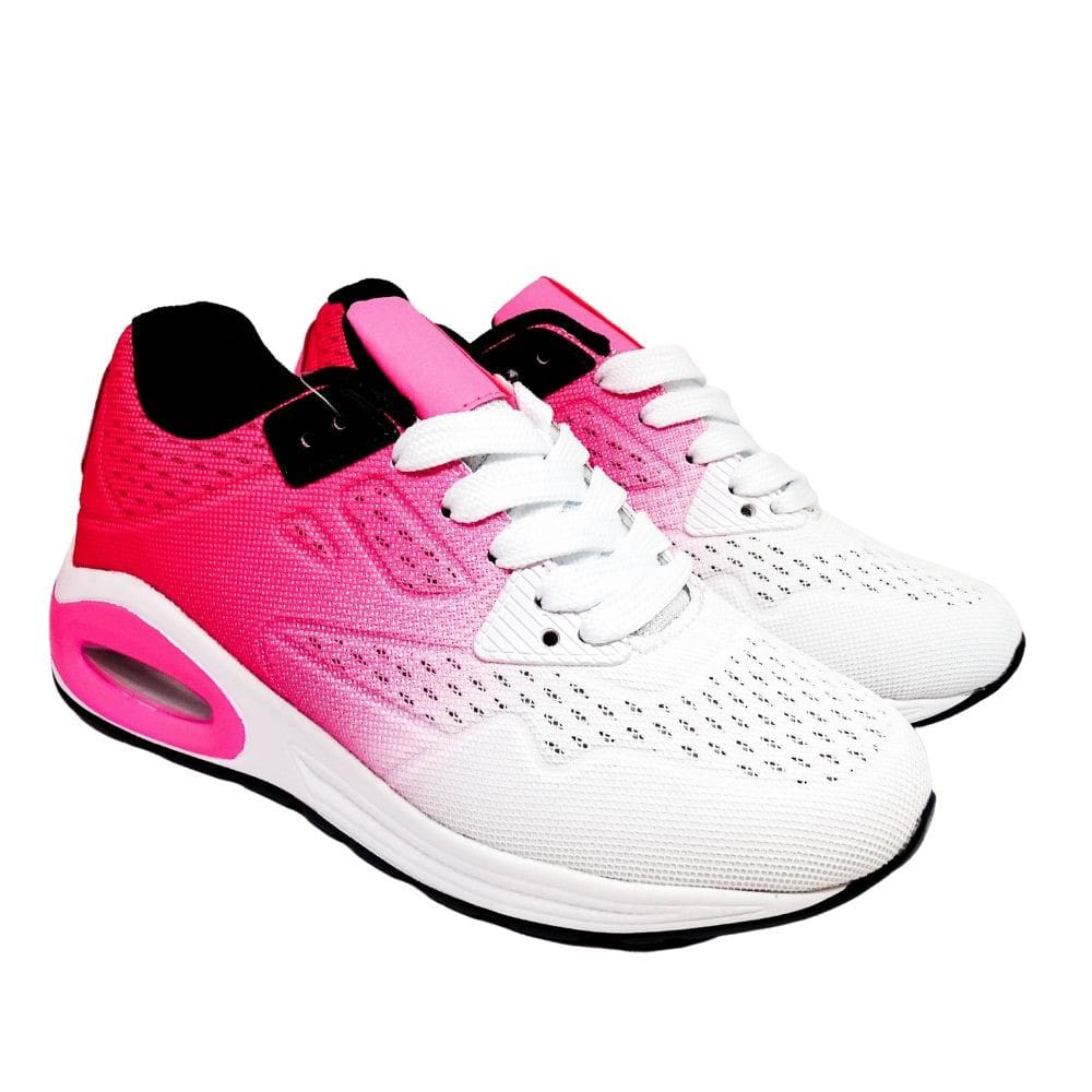 Sneakers Bianche E Fucsia