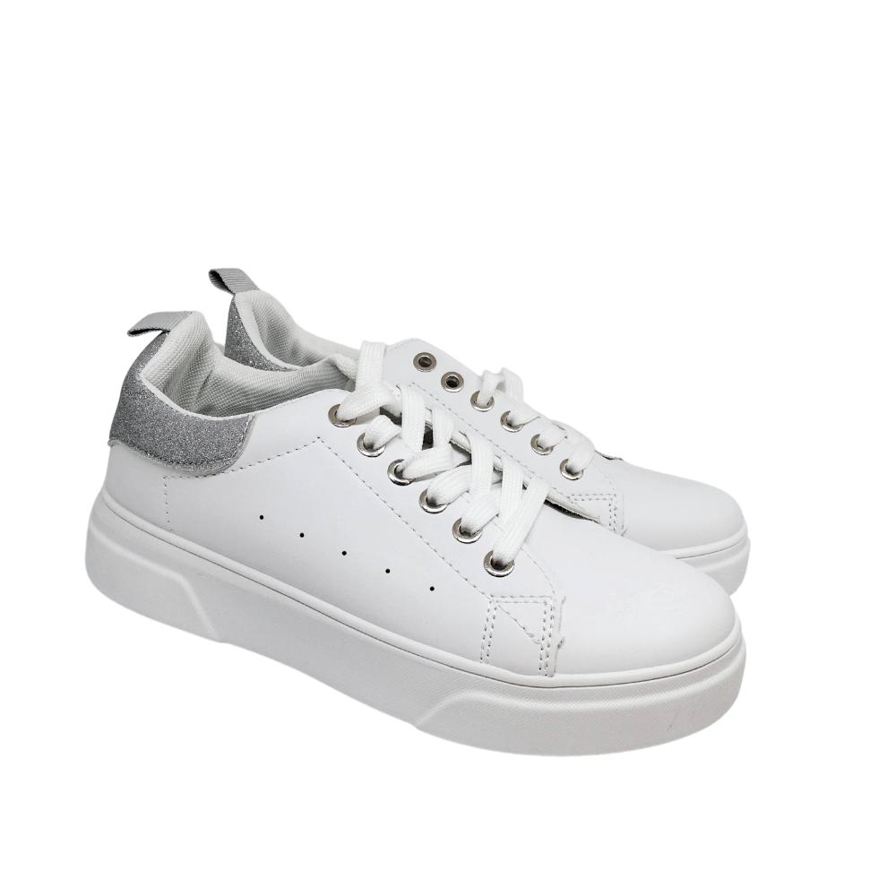 Sneakers Bianche Tallone Glitter