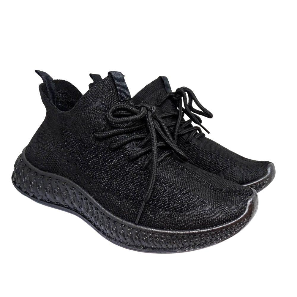 Sneakers Tessuto Nero