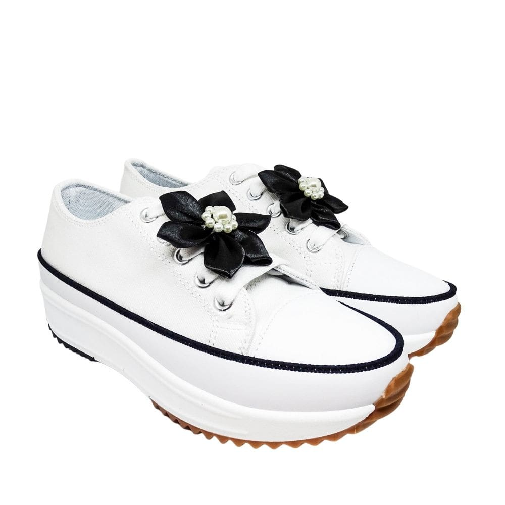Sneakers Tela Fondo Alto