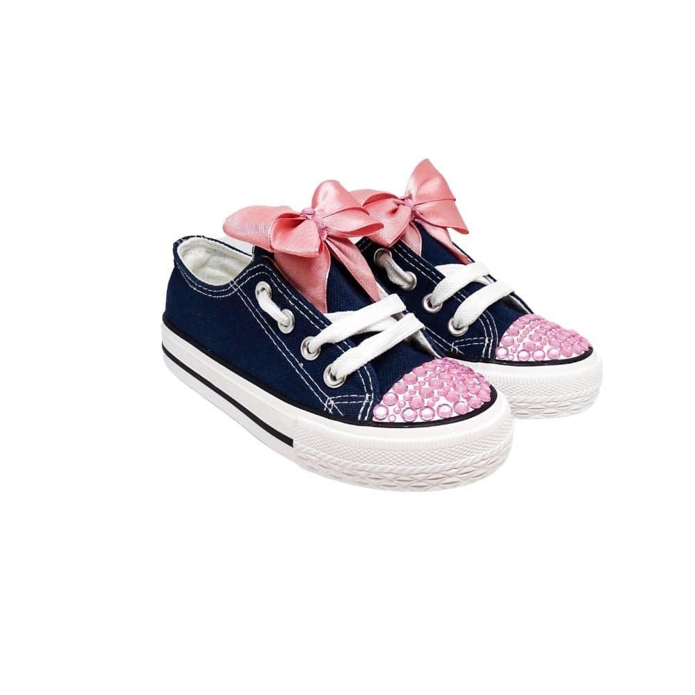 Sneakers Blu Bimba Fiocco Rosa