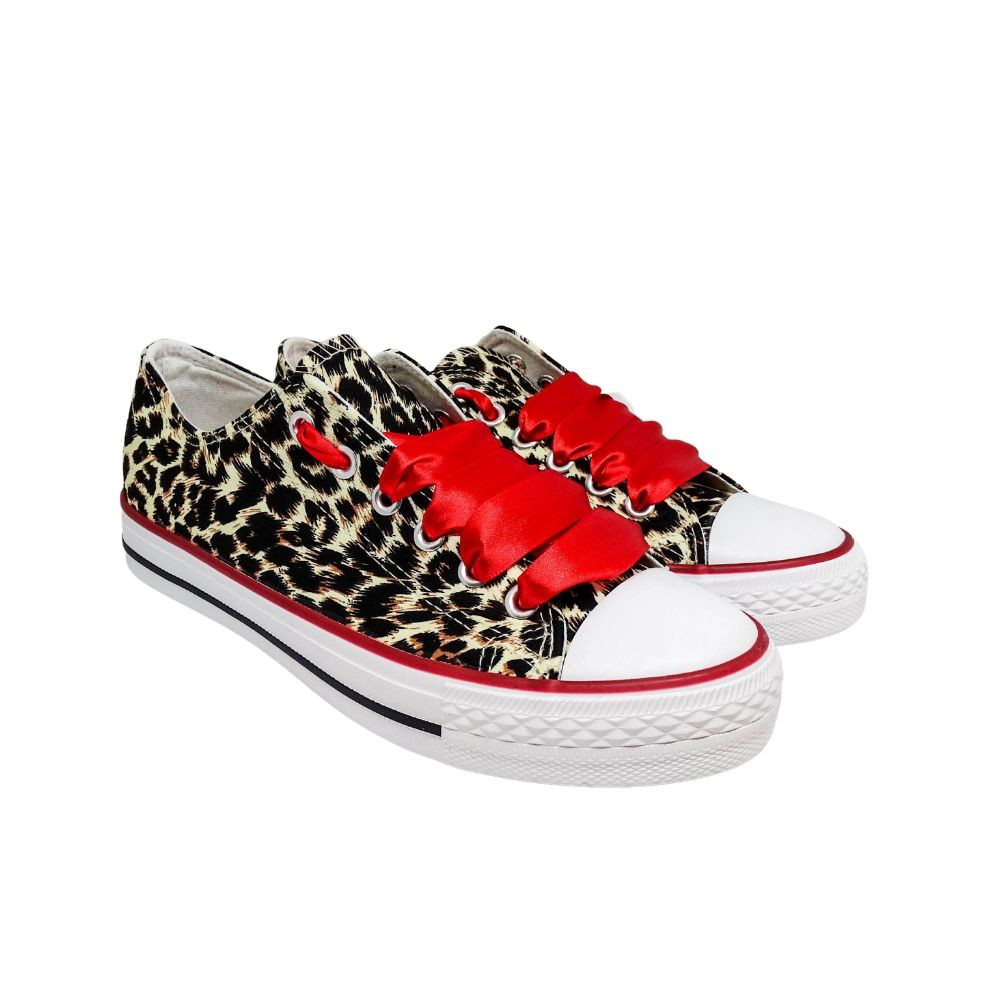 Sneakers Leopard Tela