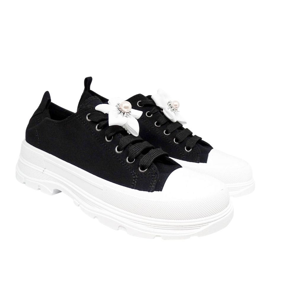 Sneakers Basse Platform Fiore