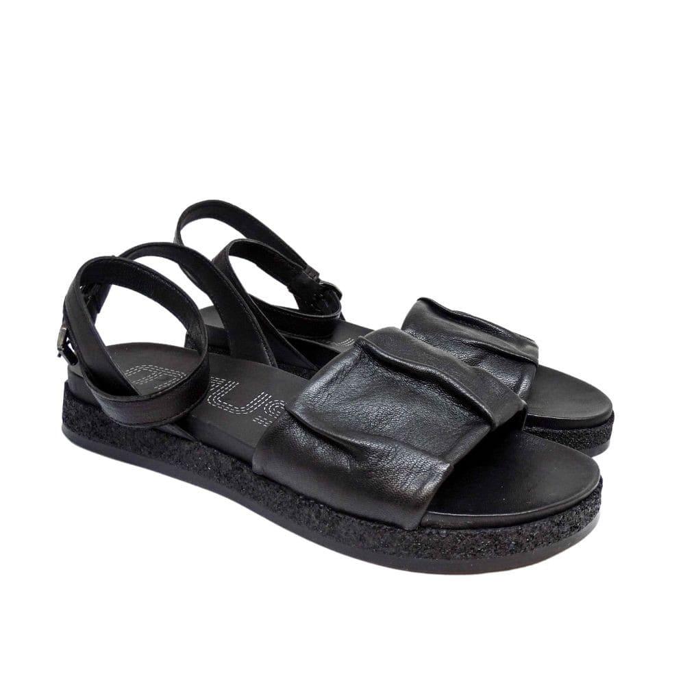 Sandalo Arricciato Nero
