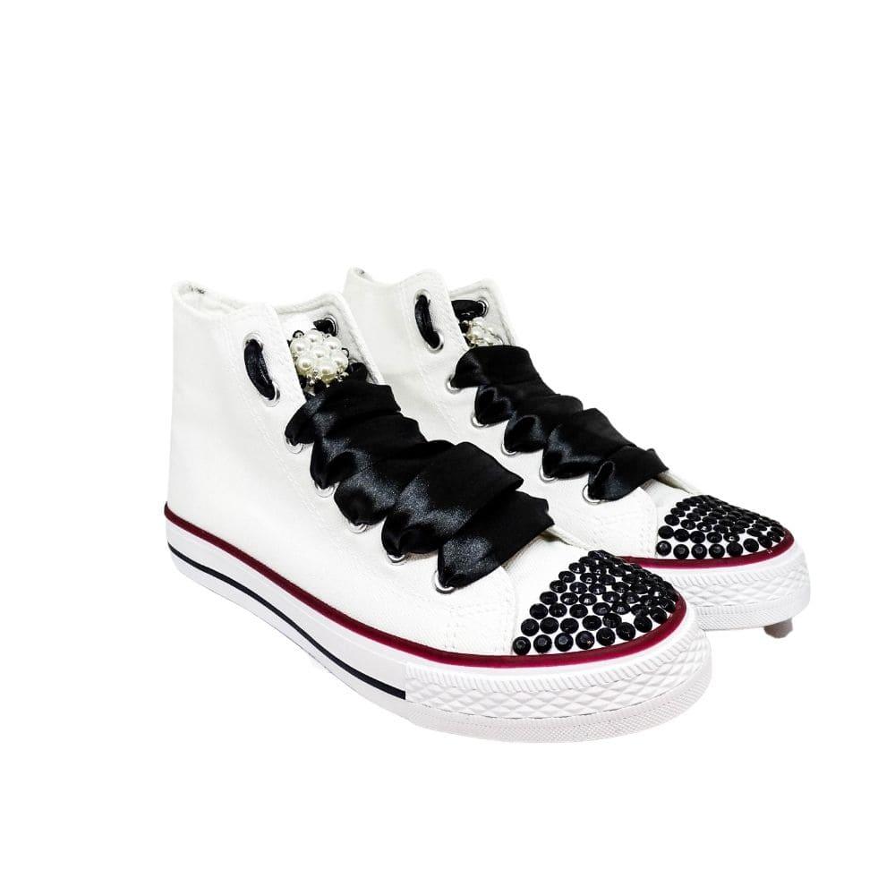 Sneakers Bianche E Nere  Gioiello