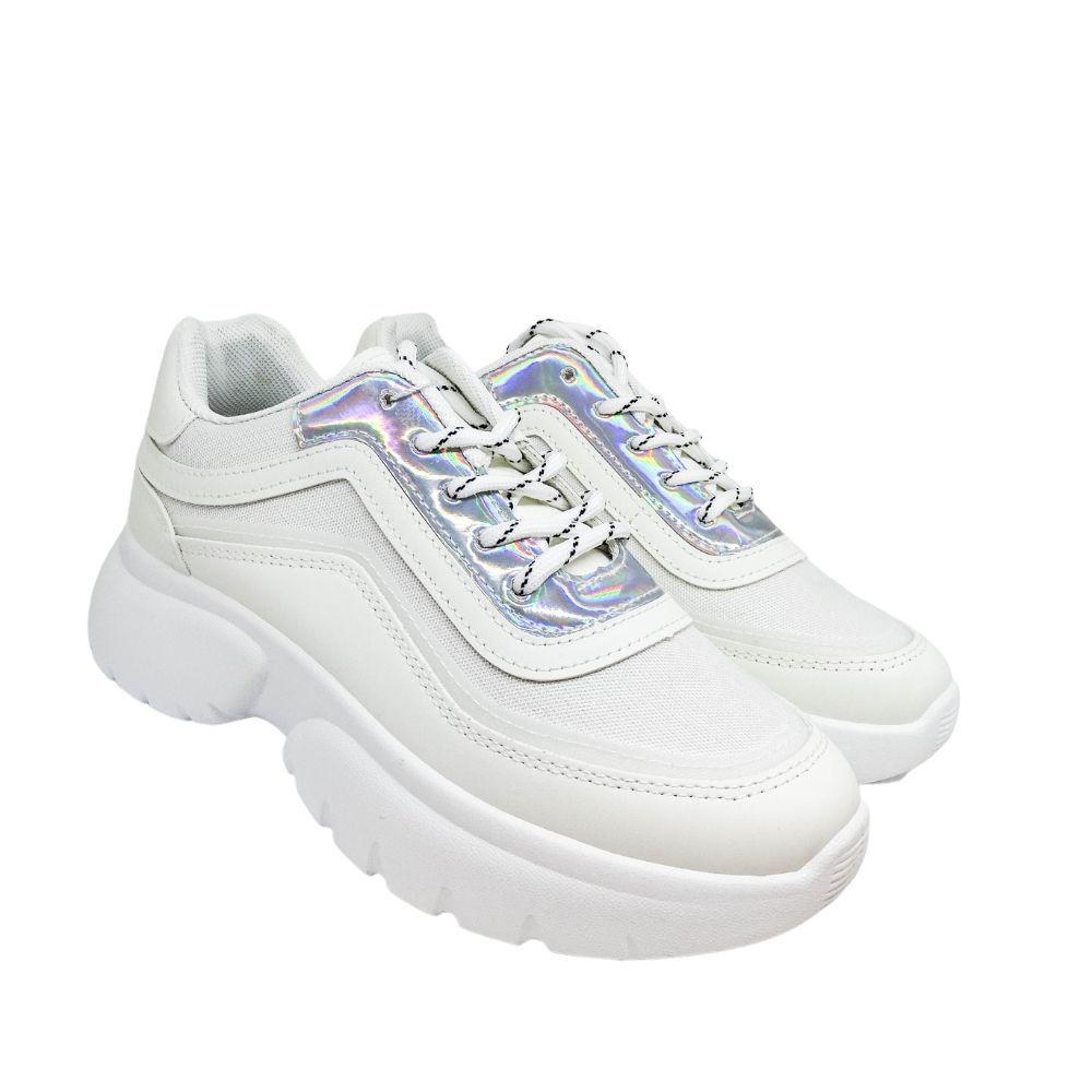 Sneakers Bianche Glitter