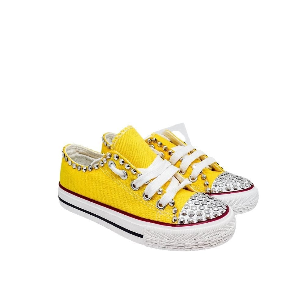 Sneakers Basse Tela  Borchie