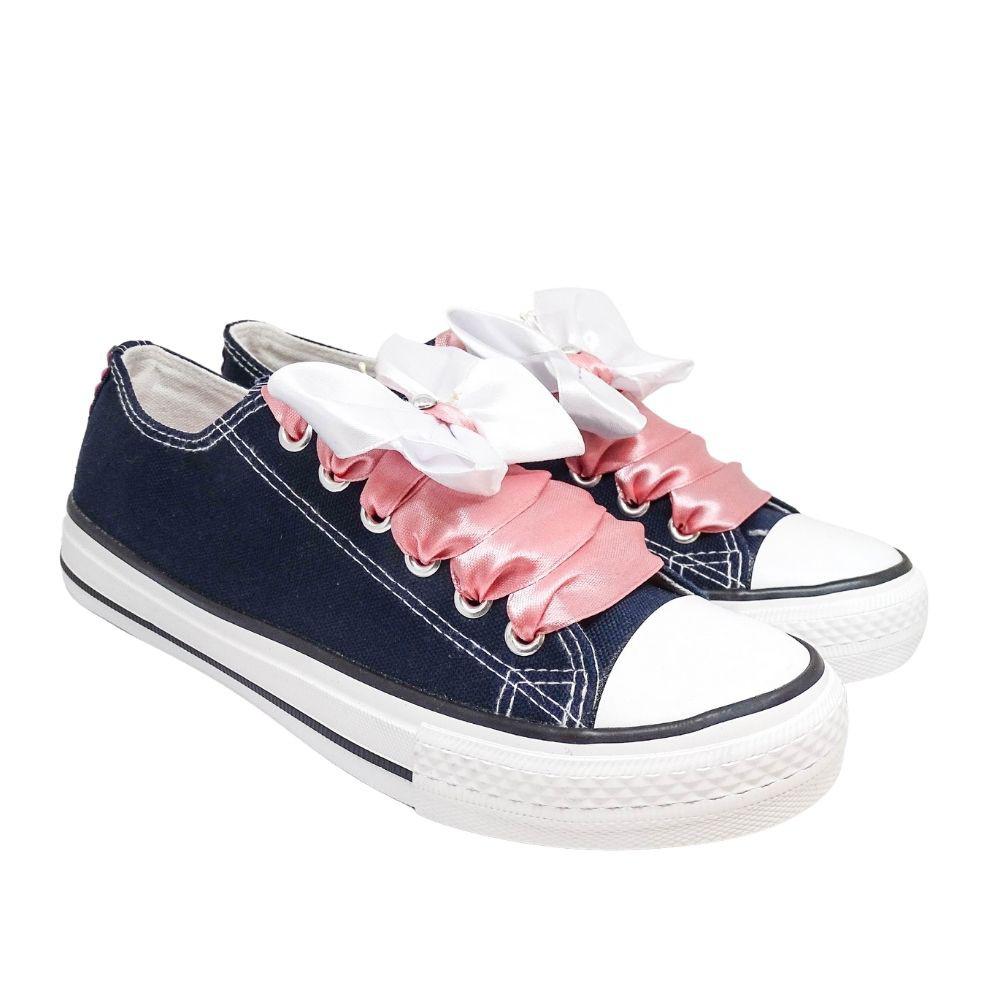 Sneakers Blu Farfalle