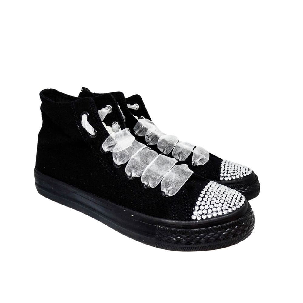 Sneakers Nere Strass