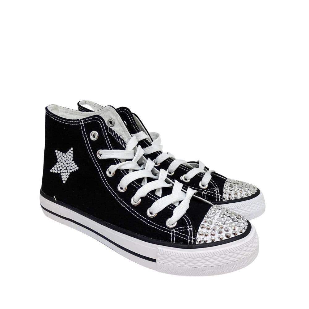 Sneakers Tela Stella Strass