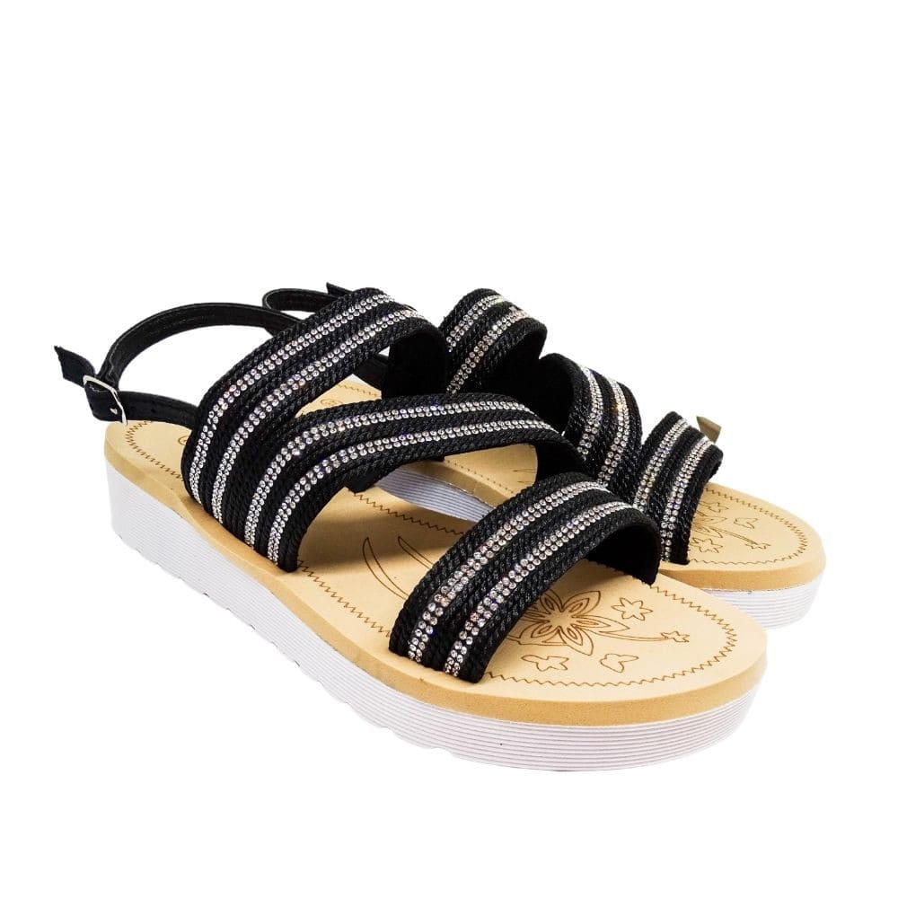 Sandalo Fasce Strass