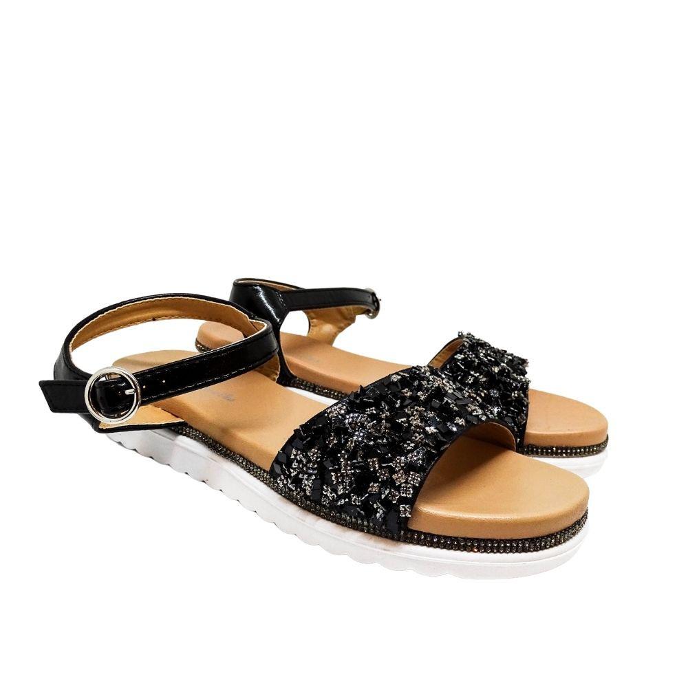 Sandalo Paillettes E Strass