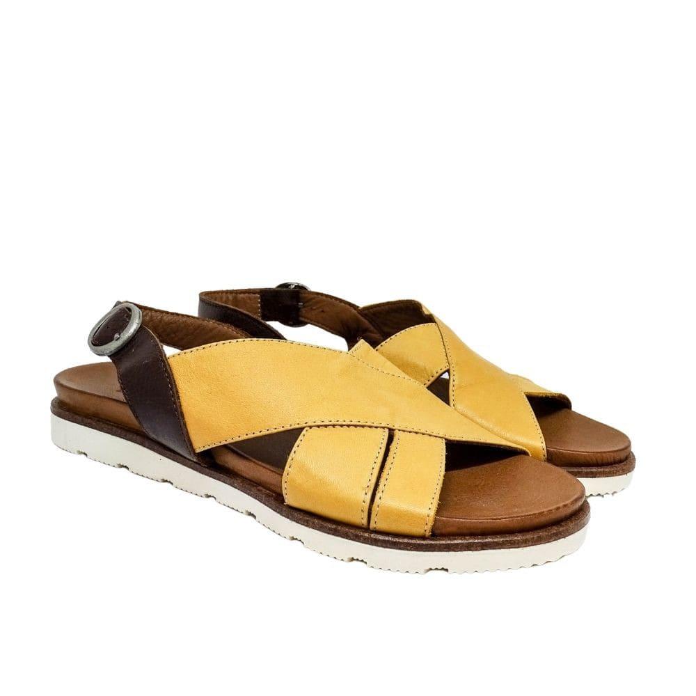 Sandalo Incrocio Giallo