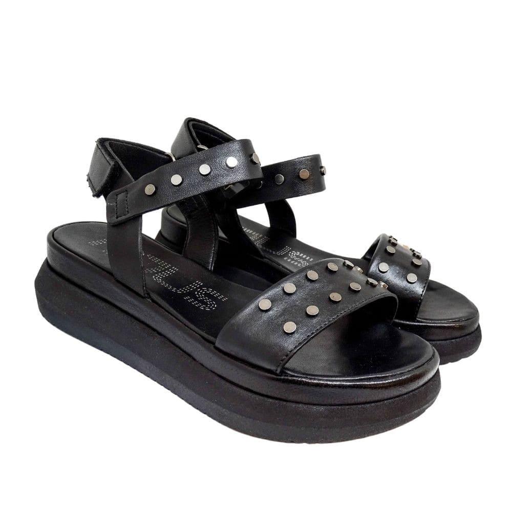 Sandalo Nero Borchie
