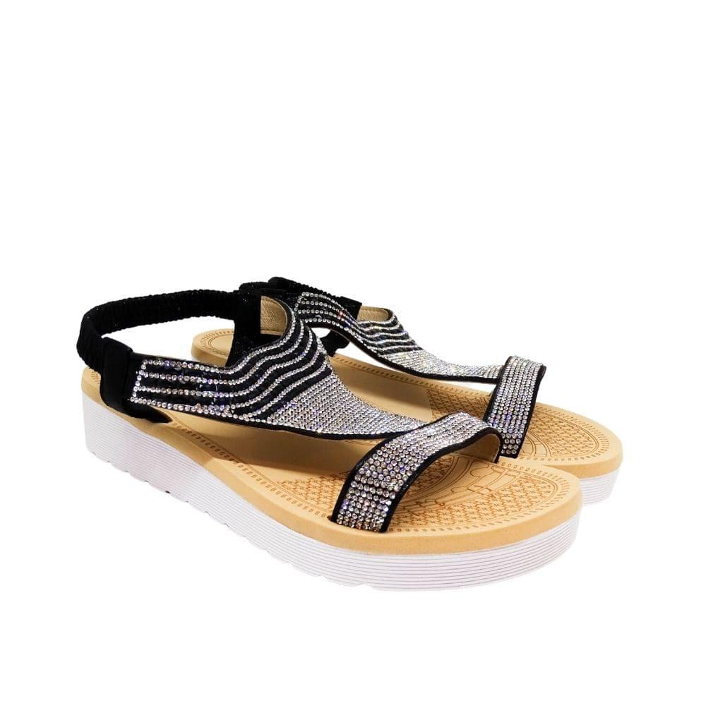 Sandalo Triangolo Strass