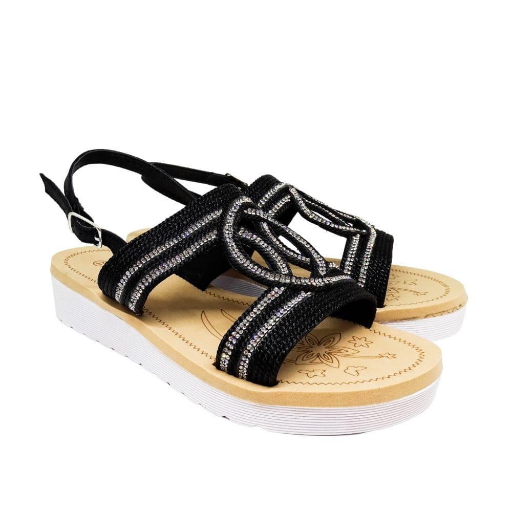 Sandalo Corda E Strass