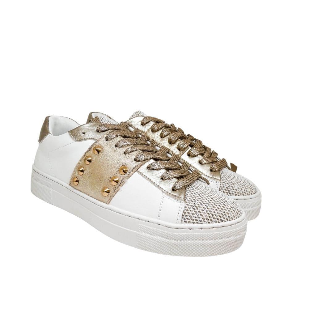 Sneakers Oro Borchie E Strass