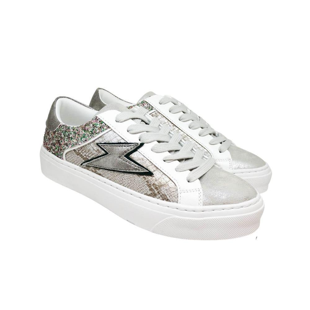 Sneakers Argento Glitter