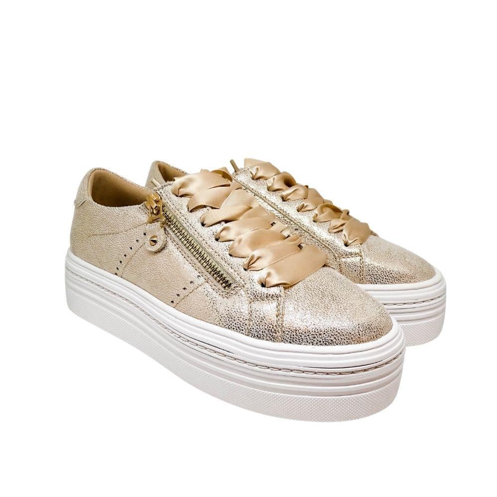 Sneakers Oro Lacci Raso