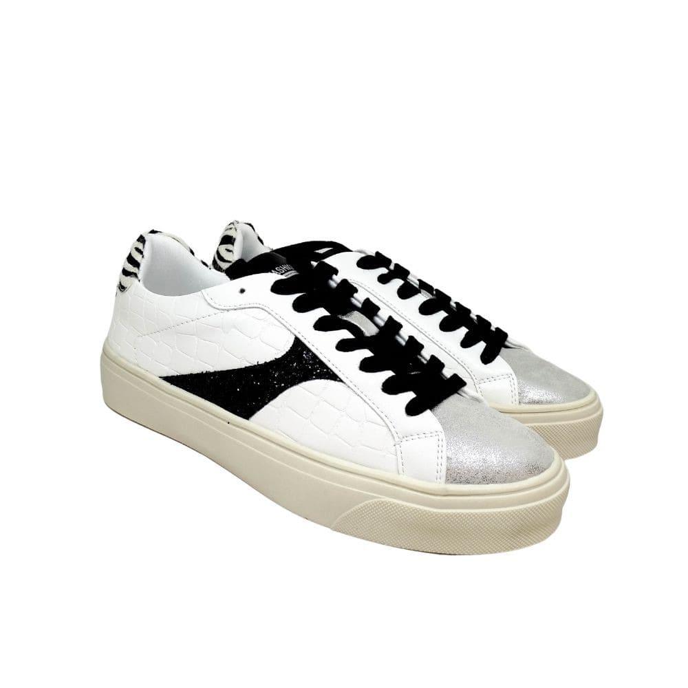 Sneakers Bianche Tallone Zebrato